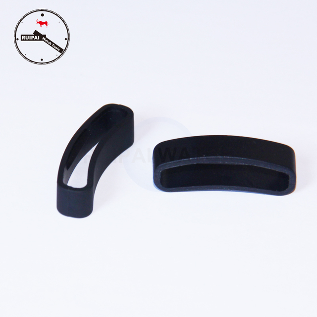 2pcs/lot Watchband Rubber Holder Ring Watch Band Strap Clasp Ring Loop Fastener