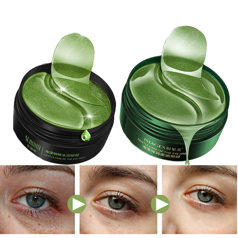 Moisturizing Collagen Eye Patch Mask Against Wrinkles Dark Circles Care Eyes Bags Pads Ageless Hydrogel Sleeping Patches 60PCS