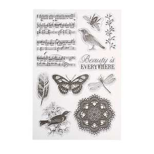 Clear-Stamp Seals Paper-Cards Scrapbooking Decor Photo-Album Silicone-Rubber Transparent