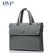 BVP 100% Genuine Leather Men Messenger Bags Business Hasp Zipper Laptop Men Briefcase Tote Shoulder Laptop Men's Portfolio T1024