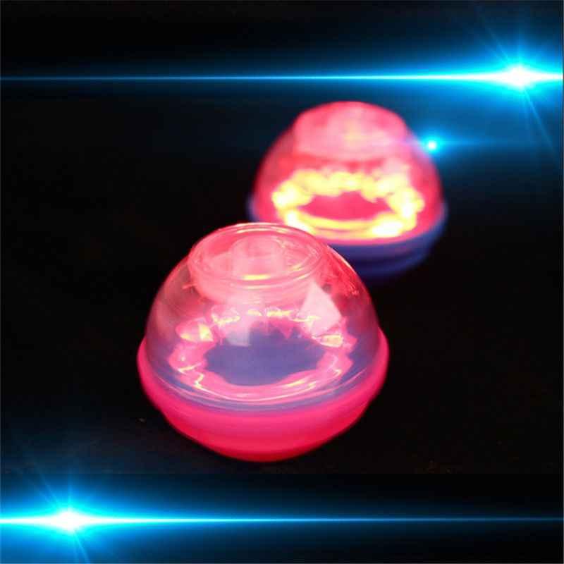 플래시 LED 라이트 회전 탑 플라스틱 레이저 자이로 스코프 라이트 장난감 키즈 장난감 파티 부탁 선물 무작위 컬러