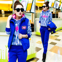 Han Edition In The Fall And Winter Fashion Leisure Suit Add Three Piece Wool Fleece Cultivate