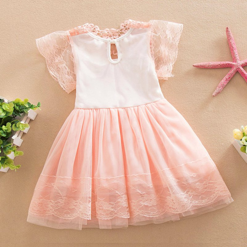 Baby Girl Lace Tutu Dress Summer Hollw Out Sundress Kids Formal Birthday Wedding Party Clothes
