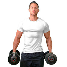 Summer Bodybuilding Mens' Gyms Tshirts Male Fashion Sexy Tights Shortsleeves Clothing Tops Man Fitness Sporting Undershirts Tees