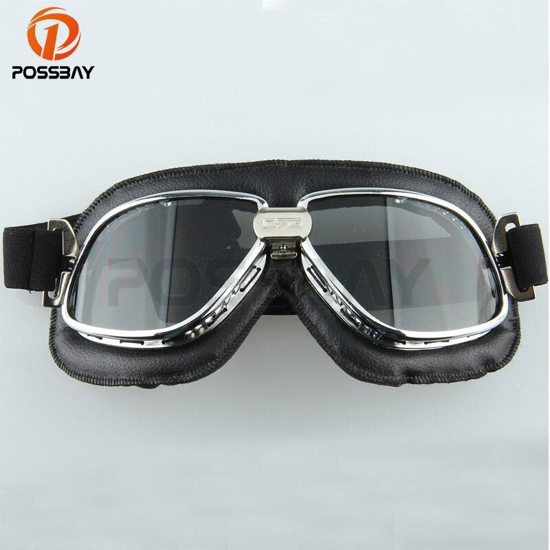 Possbay Vintage Motocross Brille Mountainbike Motorrad Brille Skate Ski Googles Outdoor Übungen Sport Schutz Brillen Bequem Und Einfach Zu Tragen