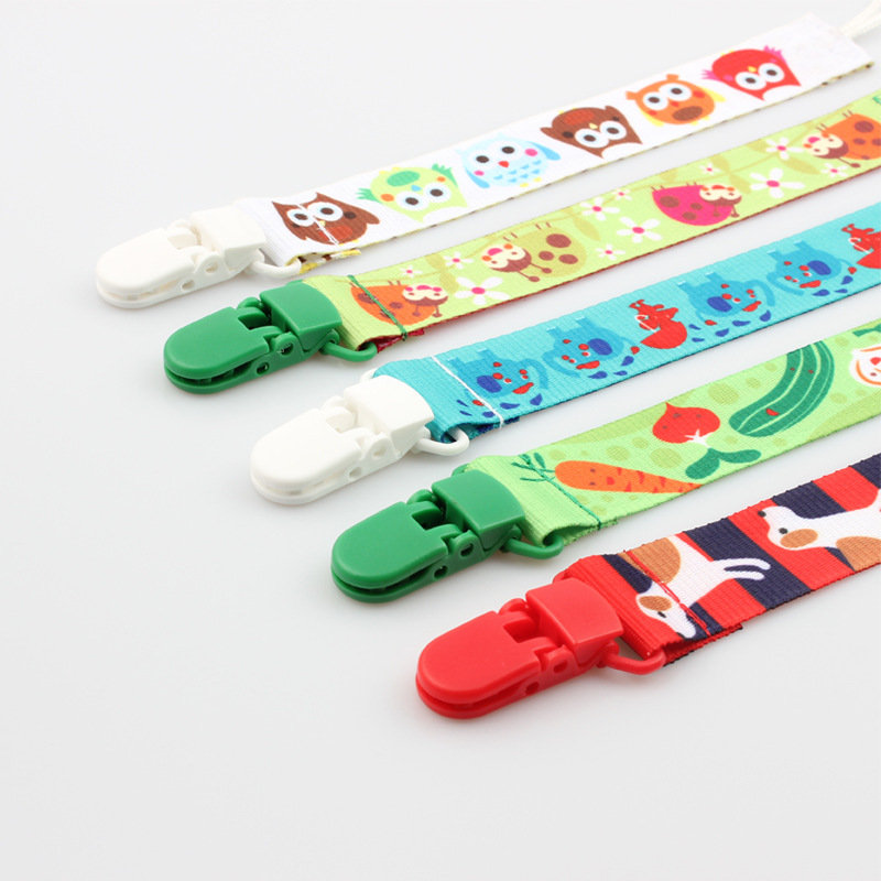 Baby Pacifier Clips Cartoon Infant Pacifier Holder Chain Newborn Teether Anti-drop Rope Safe Teething Chain Toys Stroller Strap
