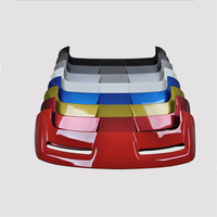 For Classic Ford Focus hatchback 2005 2011 Rear Wing Spoiler, Trunk Boot Wings Spoilers paint ABS screw fixing