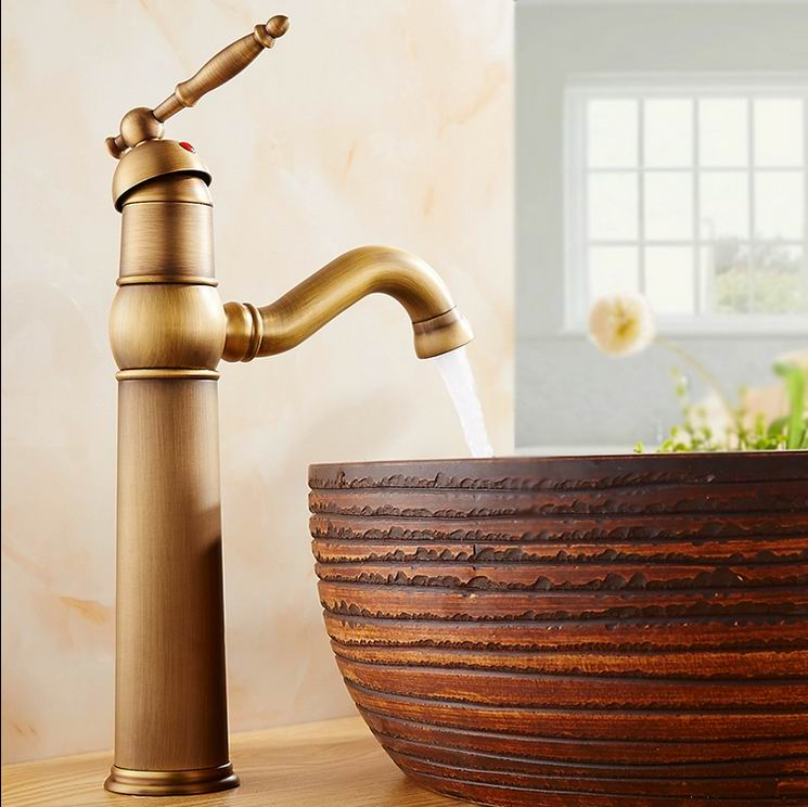 Free Shipping Classic bathroom faucets Basin sink fashion antique copper hot and cold faucet single hole counter basin taps 2m 2 0mp 8mm led android endoscope waterproof borescope tube video camera