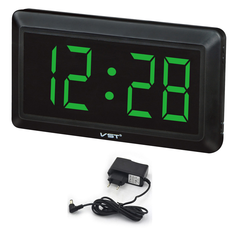 Sunlynn extra large digital clock parents like led green number wall clock with large face table - Extra large digital wall clock ...