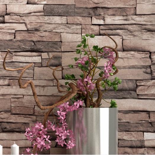 d modern gran muralla pvc de papel de pared de ladrillo de piedra para balcn saln