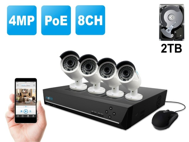 Reolink RLK8 410B4 8CH 1440P Home Security Camera System with Four ...