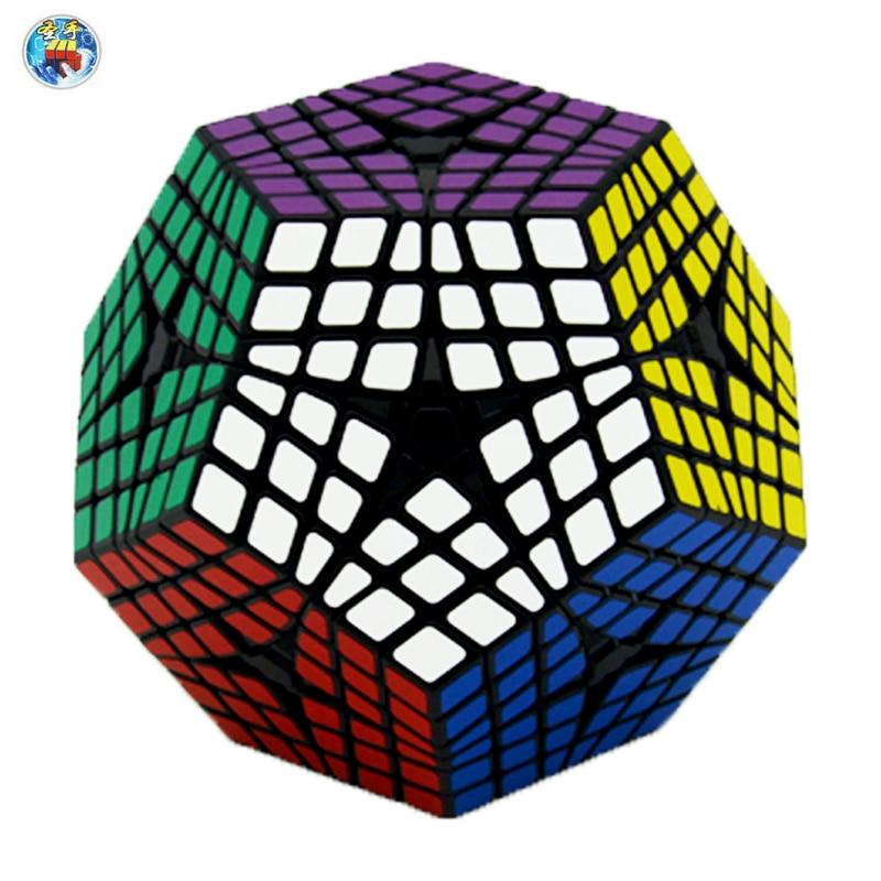 цена на Shengshou Elite Kilominx Cube Black Speed Cube Cubo Magic Educational Toys 6x6Layer