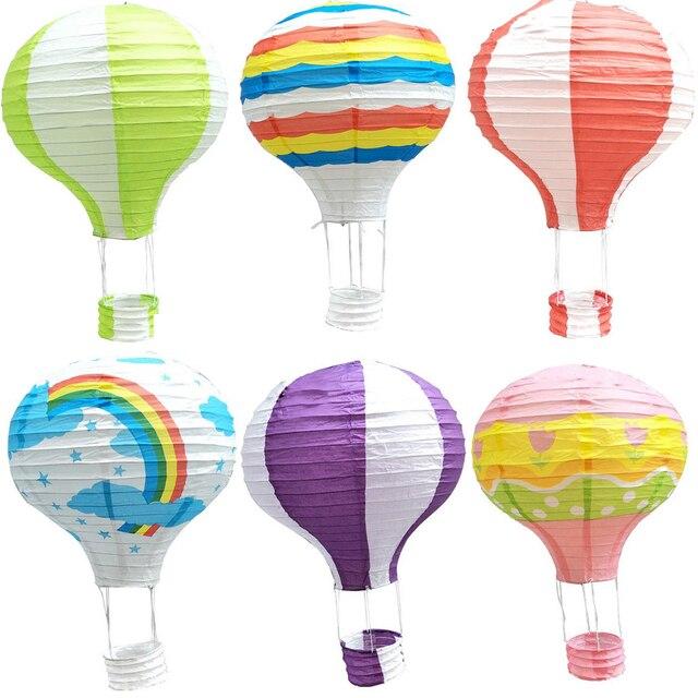 35cm Rainbow Printing Paper Lantern Hot Air Balloon Wedding