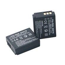 2Pcs 3.7v 1000mAh CGA S007 CGA CGR S007E S007A BCD10 Battery for Panasonic DMC TZ1 TZ2 TZ3 TZ4 TZ5 TZ50 TZ15 Batteries bateria