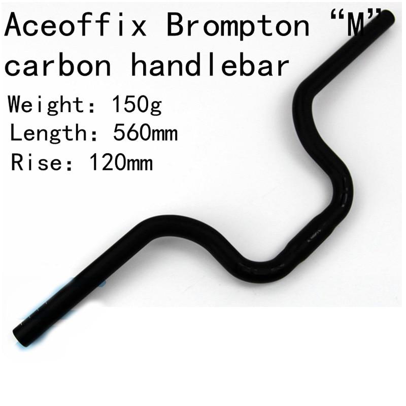 150g Aceoffix BMX Carbon Fiber Bicycle Handlebar M Model UD Matte MTB Carbon Handlebar 500 560mm