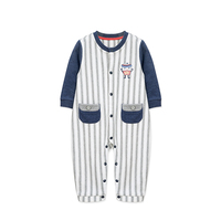 Baby Romper Real Rushed Infantil 2018 Faashion Newborn Clothing Spring Soft Long Sleeve Stripe Rompers Cotton