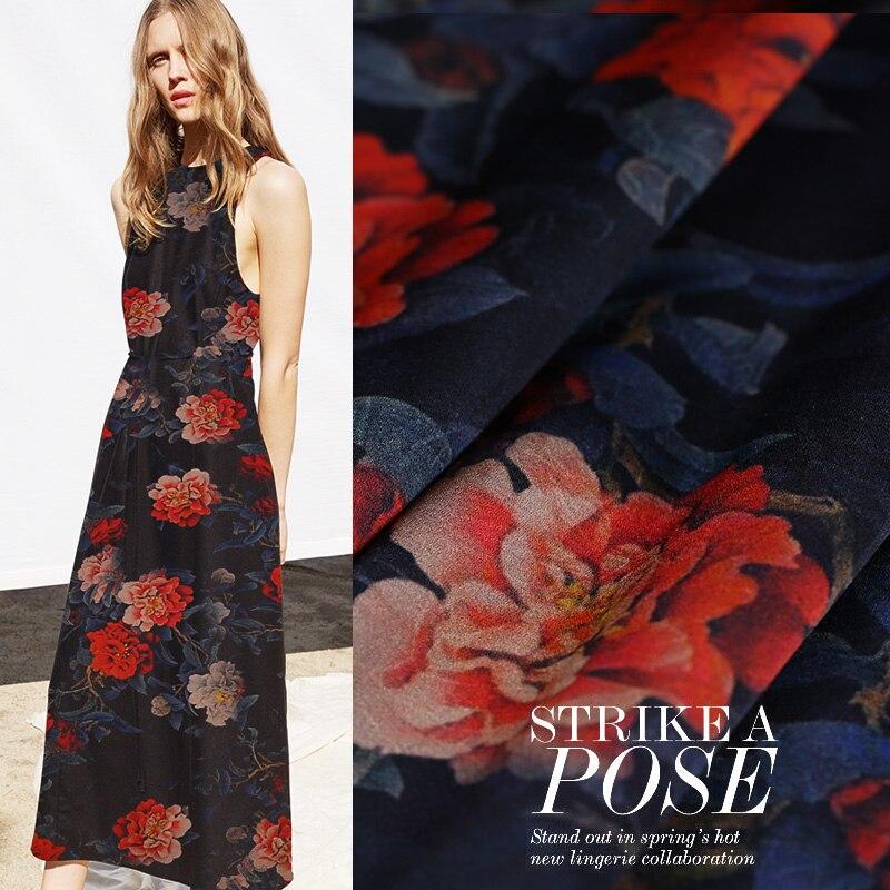 Arts,crafts & Sewing Heavy Satin Gambiered Canton Gauze Fabric Cheongsam Dress Heavy Silk Fabric Natural Silk Fabric Wholesale Silk Cloth Moderate Price