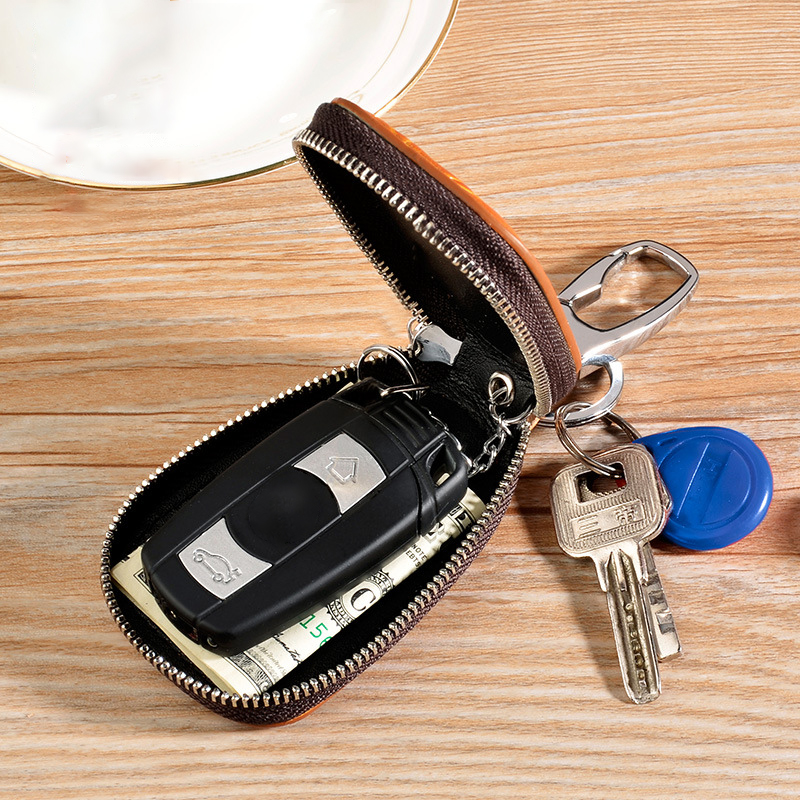 HTB1rd31vHwrBKNjSZPcq6xpapXaY - Osmond Men Women Genuine Leather Car Key Holders Housekeeper For Men Retro Multifunctional Home Keychain Case Female Key Wallet