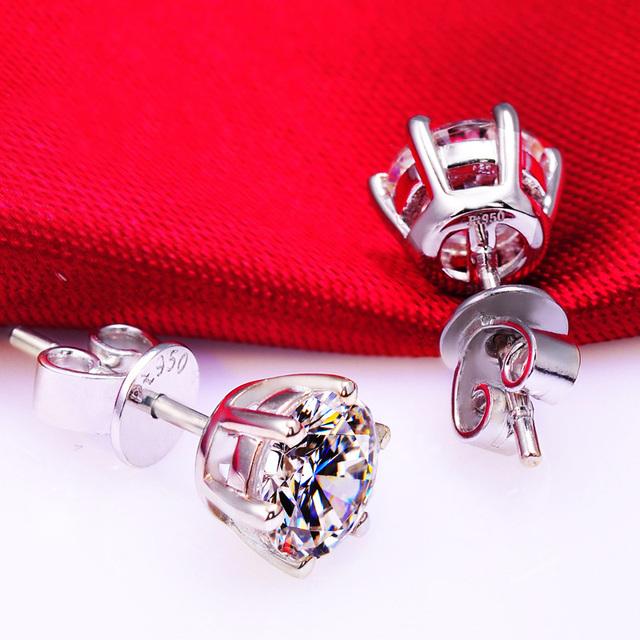 925 Sterling Sliver Stud Earring Shining Earrings Fine Jewelry Woman Anti Allergy 2017 New Fashion Women Trendy Party