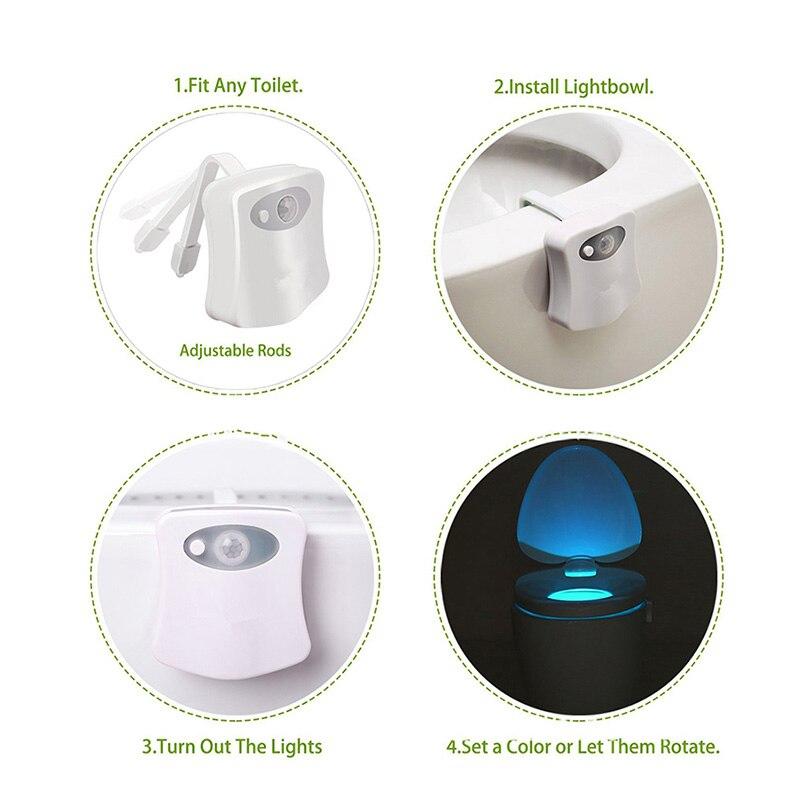 Luzes da Noite higiênico sensor de corpo da Fonte de Luz : Lâmpadas Led