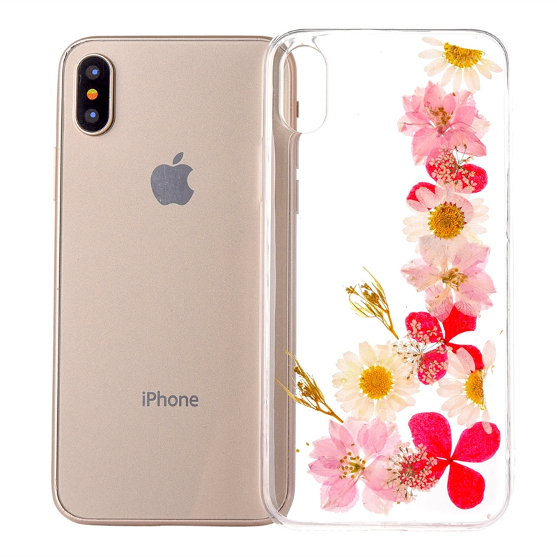 Dried Real Flower Cases For iphone 6 6s plus For iphone 7 7 plus 8 8 Plus X XS XR XS Max Transparent Soft TPU Case Back Cover