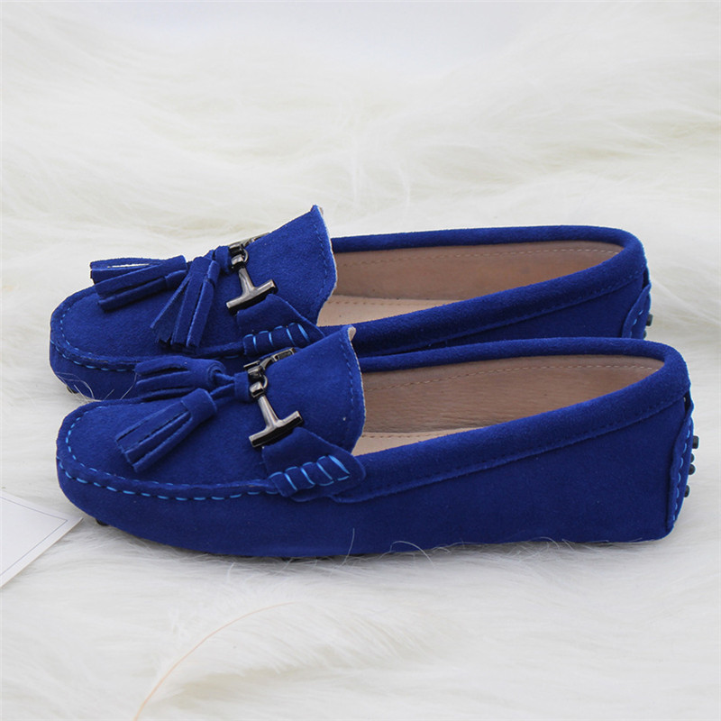 2019 Women Shoes 100% Genuine Leather Women Flat Shoes Handmade Leather Loafers Spring Autumn Casual Driving Shoes Women Flats
