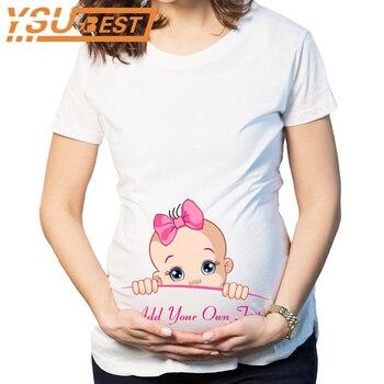 Mujer Cargando Embarazo Animados Camiseta Para Dibujos Tops Bebé Maternidad Está Divertidas Camisetas De Algodón PwOk80n
