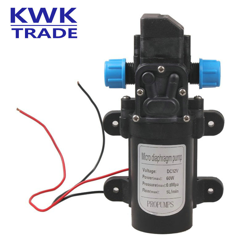 Mini Electric Water Pump DC 12V 60W High Pressure Micro Diaphragm Water Pump Automatic Switch 5L/min Intelligent Irrigation