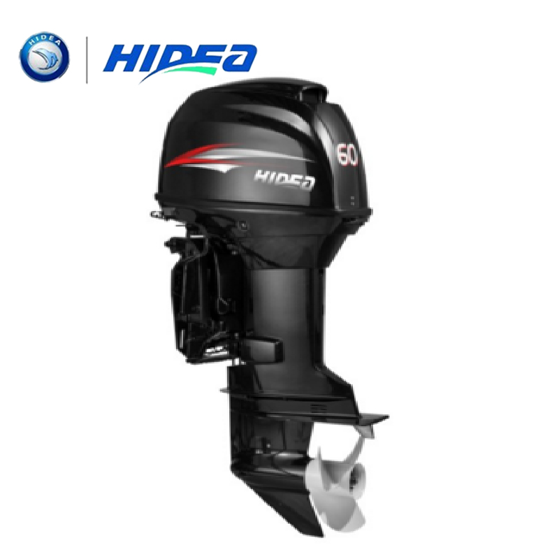 HIDEA Hot Selling Water Cooled 2-stroke 60 HP Marine Engine Outboard Motor For Boats  Long Shaft