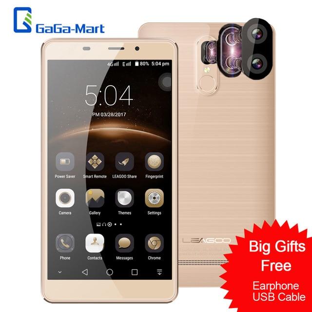 LEAGOO M8 Pro 4G Smartphone Android 6.0 MTK6737 Quad Core 2GB+16GB 13MP+5MP Dual Back Cameras Fingerprint 5.7inch Mobile Phone