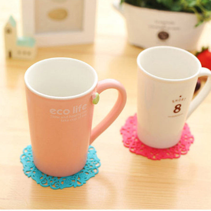 1 4 Pcs Thermal Insulation Antiskid Silicone Dining Table Placemat Coaster Kitchen Accessories Mat Cup Bar Mug Drink Pads in Mats Pads from Home Garden