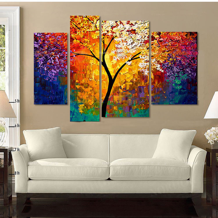 Buy the life tree picture canvas painting - Tableau contemporain grand format ...