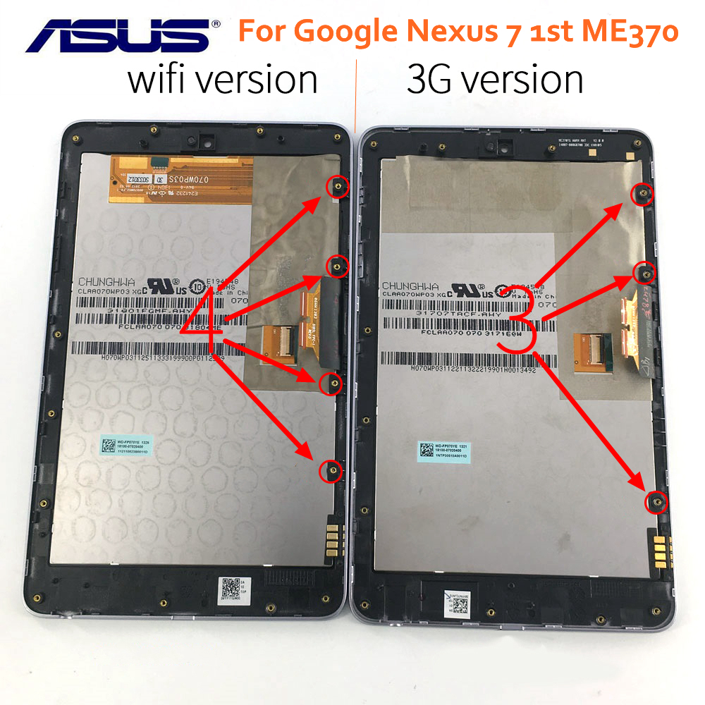 For ASUS Google Nexus7 2012 1st ME370 Wifi LCD Touch Screen Digitizer Assembly F