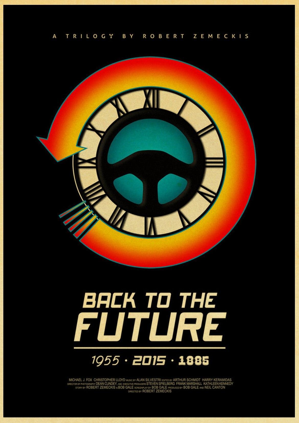 HTB1rd3bleuSBuNjy1Xcq6AYjFXa8 Sci-fi Back to The Future Film Propaganda Retro Kraft Poster Decorative DIY Wall Canvas Sticker Home Bar Art Posters Decor