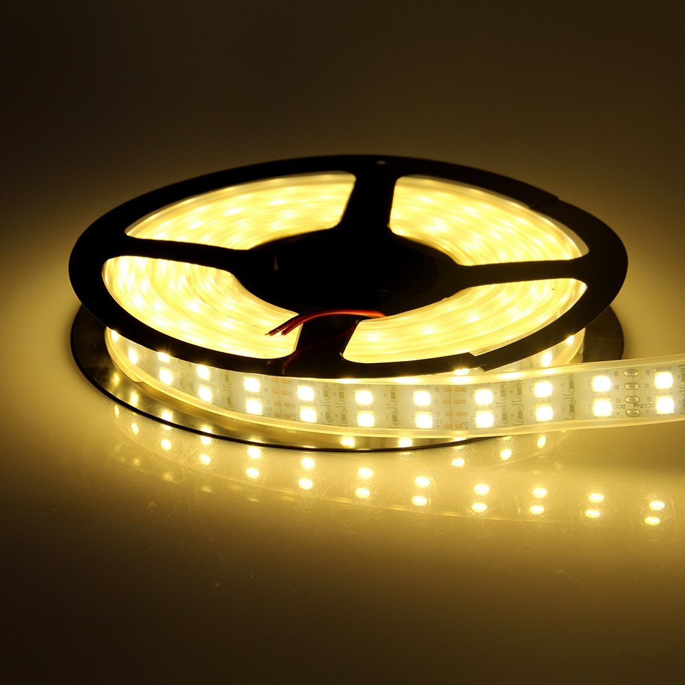 DC12v 120leds/m RGB Led Strip 5050 5m/reel Double Row Warm White/White Led Tape Light Waterproof/Non-waterproof