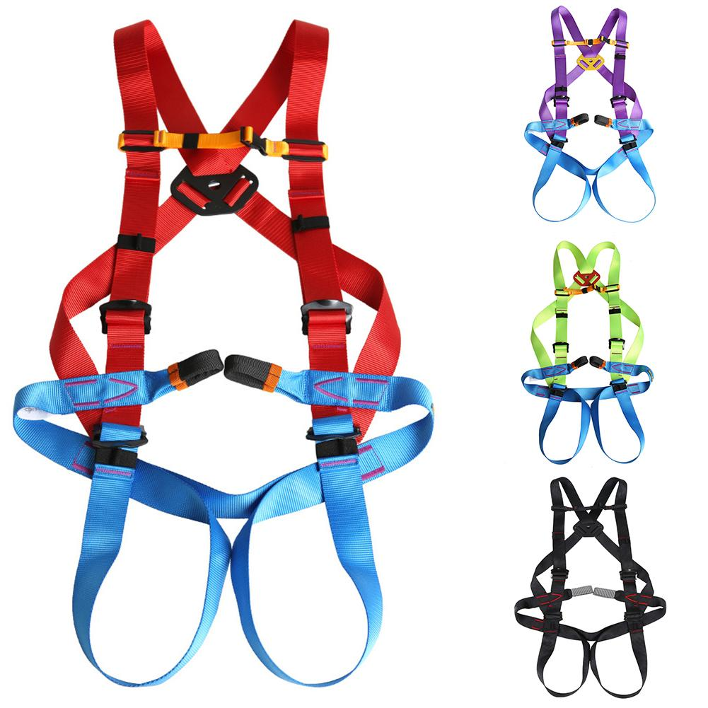 Kids Climbing Tool Children Mountaineering Rock Climbing Rescue Full Body Safety Harness Safe Seat Belt For Kids Safety Toys