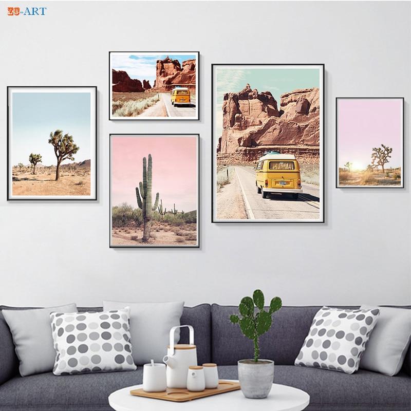 Joshua Tree Cactus Poster Print California Desert Canvas ... on Modern Boho Wall Decor  id=64860