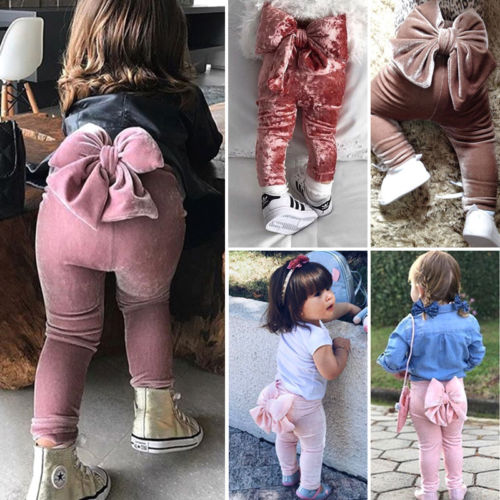 Fashion Toddler Kids Baby Girls Bowknot Bottoms Pleuche Cute Long Pants Leggings Autumn Clothes Pants Aliexpress