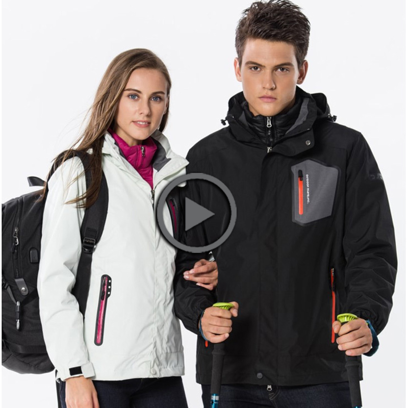 Hot Winter Outdoor couple duck down jacket hiking waterproof windbreaker man woman coats fishing ski Down Inner lining+jackets