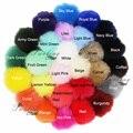 DIY Atacado 400 Pçs/lote Poms do Pom da Pele Do Falso Colorido Imitatation Bolas Acessórios Man-made combinado com o Brinquedo de Pelúcia