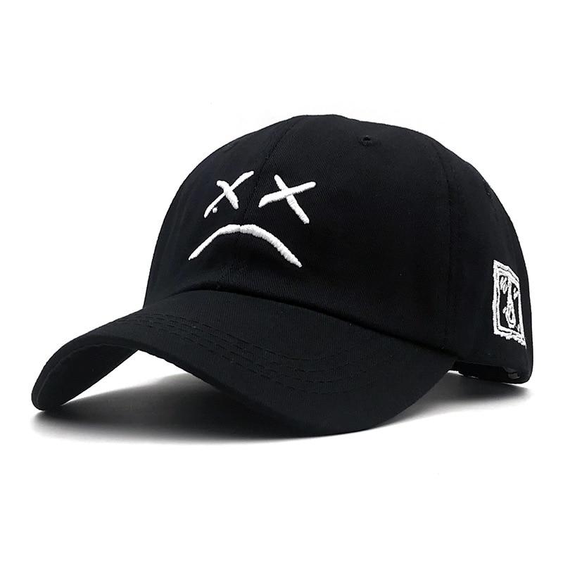 Lil Peep Sad Face Baseball Cap For Men Women Summer Snapback Men Dad Hats  Pink Hats  Gorras Para Hombre De Marca Trucker Cap