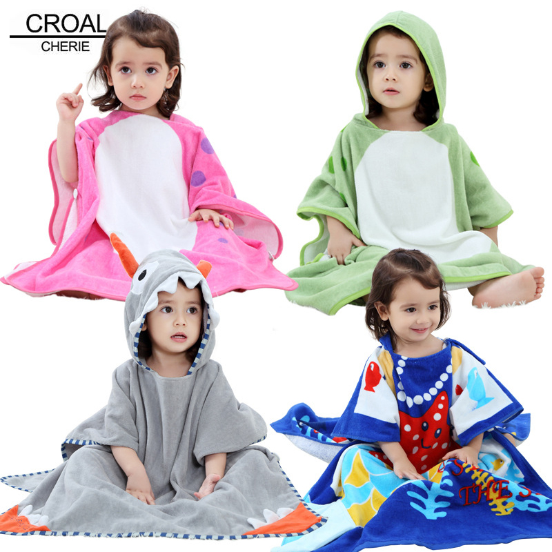 CROAL CHERIE Kids Boys Girls Robes Flannel Lovely Animal Hooded Bath Robes Sleepwear Baby Boy Bathrobe Children Clothing 0-7y