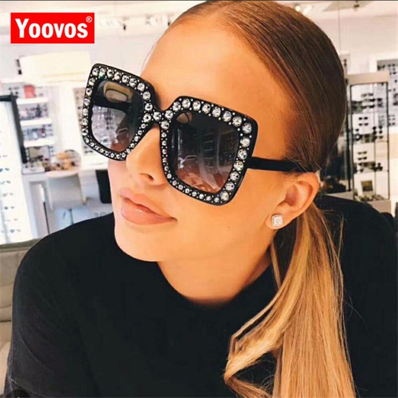 Yoovos 2019 nouveau grand cadre carré lunettes De Soleil femmes marque Designer mode surdimensionné miroir lunettes De Soleil Lunette De Soleil Femme