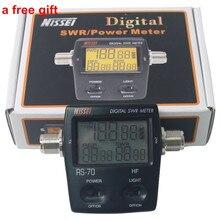 Best NISSEl RS-70 RS70 Digital SWR&Power Meter 1.6-60 Mhz HF 200W For 2 Way Radio M Type Connector SWR Power Meter walkie talkie