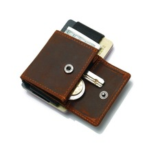 2019 Hot Sale Men Women Credit Card Holder Genuine Leather Card Wallet Mini Coin Purse Small Business ID Card Holder Organizer 2018 new super thin small credit card wallet women s leather key chain id card holder slim wallet female ladies mini coin purse