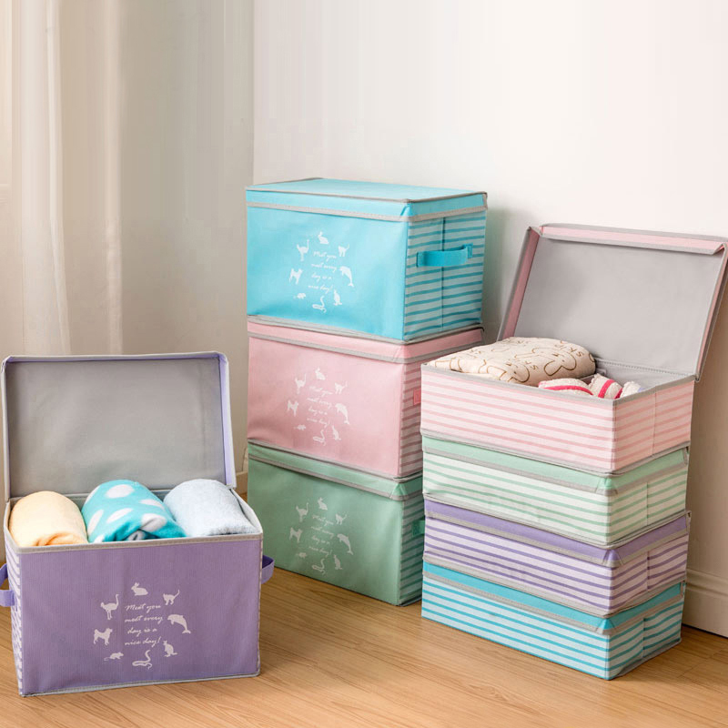 Vêtements jouet boîte de rangement Diviseur vêtements boîte articles divers Organisateur Cosmétique Maquillage Conteneur boîtes Placard peut être plié combinaison