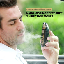 3 in 1 Car Mini Car Nano Hand-held Sprayer Air Humidifier Water Mist Moisturizing Facial Steamer Vibration Massager USB Charge