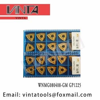 free shipping high quality 10pcs/lots WNMG080408-GM GP1225 cnc carbide turning inserts