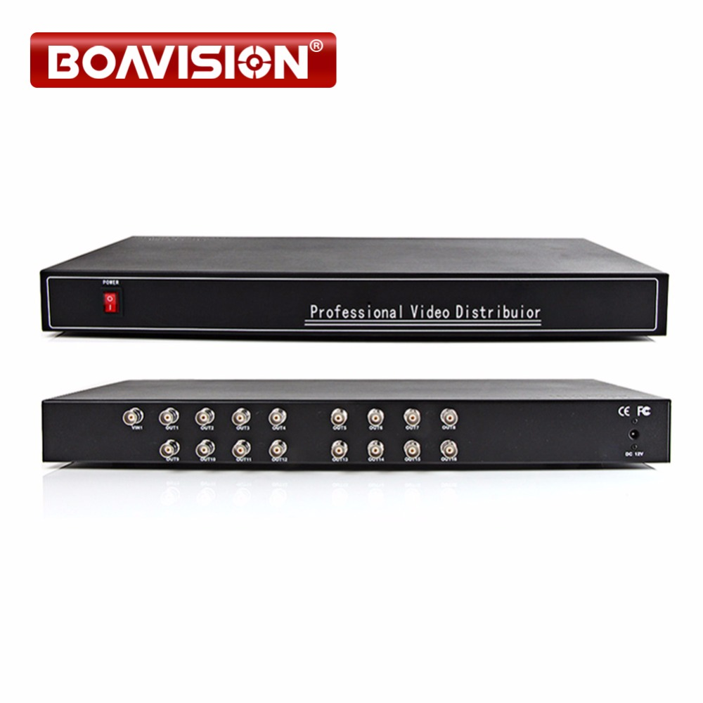 16 Port 1x16 1 In 16 Out  video Splitter/ Distributor,support  1080p/720p CVI/TVI/AHD Camera BNC In&Out,Distance Max To 300-600M bnc video distributor 16 in 64 out composite amplifier 16ch to 64ch splitter for cctv security camera dvr system