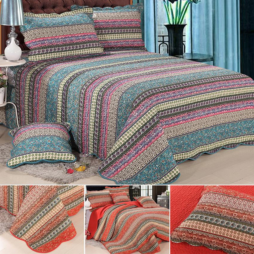 patchwork bedspreads queen size vintage floral bedspread 100 cotton 3pcs high quality sale